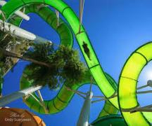 The Green Vipers: Either Open Air Slide or closed tube. Nice ride although quite curvey