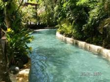 The Lazy River: as the name states, a nice and cruise trip down a makeshift river with water jets and water falls along the way.